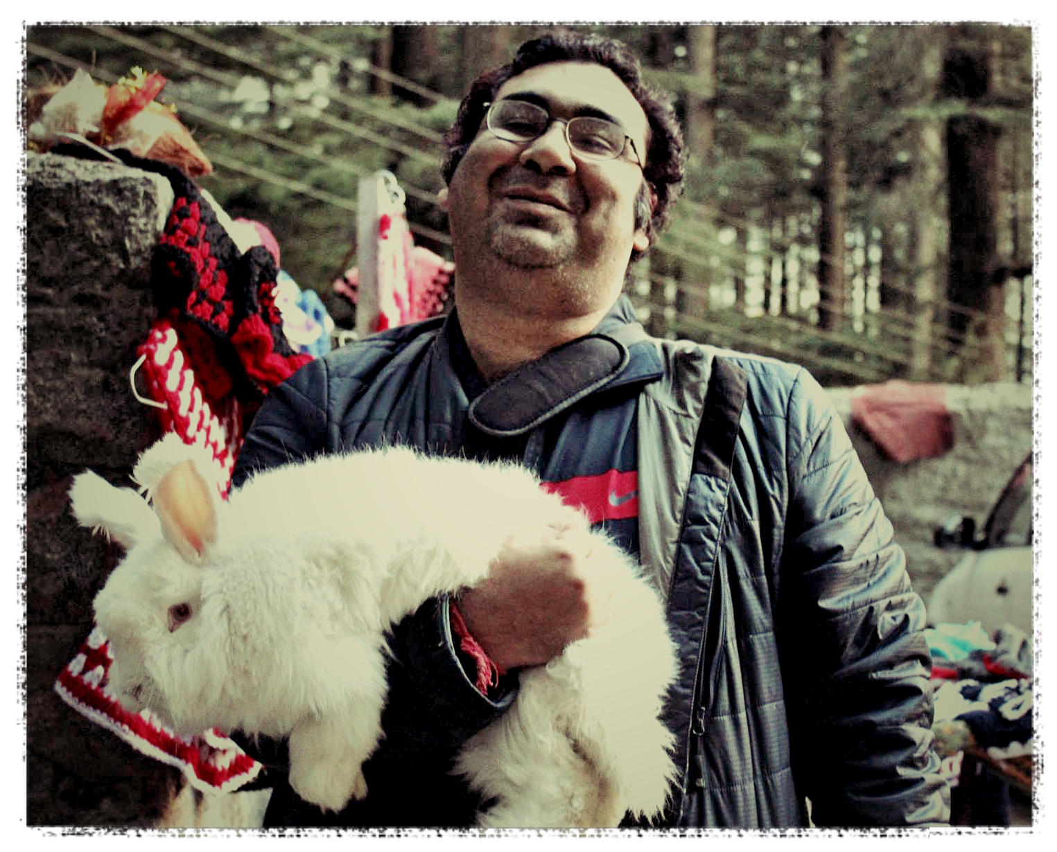 The big furry rabbit & I at the foothills of the Himalayas
